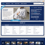 Patient Education Center home page