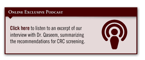 Guidance for CRC Screening