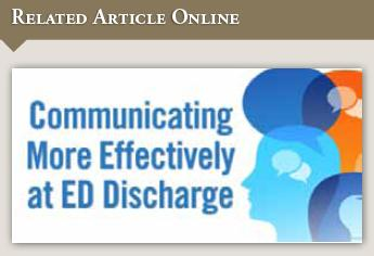 Knowledge Deficits at ED Discharge