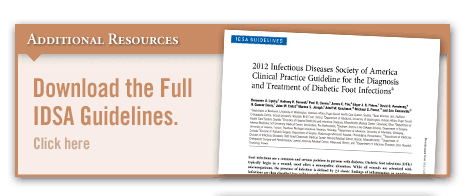 Guidelines for Diagnosing & Treating Diabetic Foot Infections