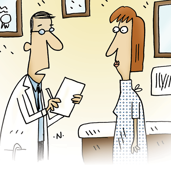 Physician's Weekly medical cartoon