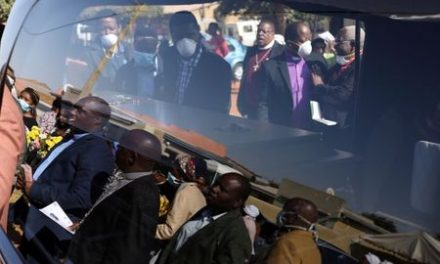 South Africans mourn a metre apart as COVID-19 curbs funerals